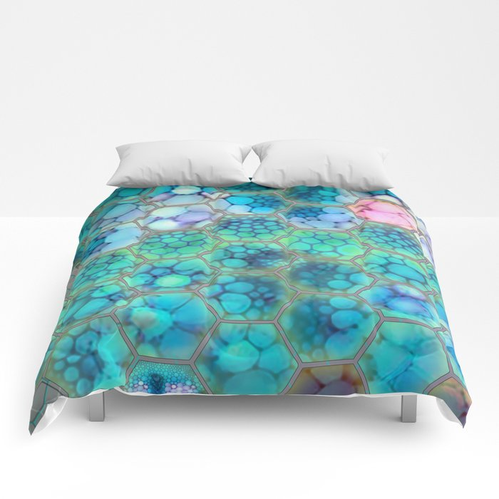 Onion cell hexagons Comforters