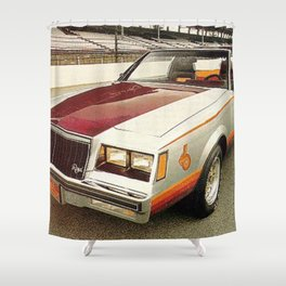 1981 Indianapolis 500 Regal-Grand National Pace car Shower Curtain