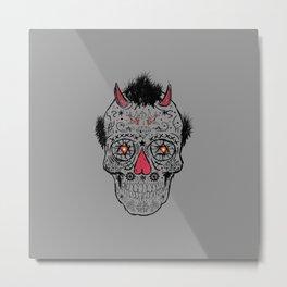 Day of the Dead Sugar Skull Metal Print