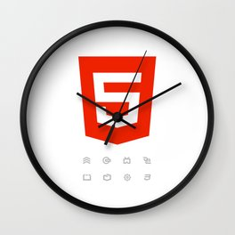 HTML5 Brand Launch Wall Clock