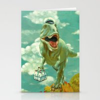 dino Stationery Cards featuring Dino by Edith Waddell