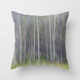 Birch Blurs Throw Pillow