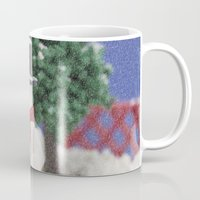 snowman Mugs featuring Snowman by Pedro Nogueira
