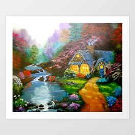 Reflections Cottage Art Print