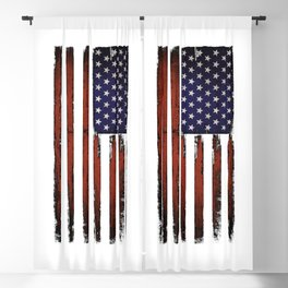 Grunge American flag Blackout Curtain