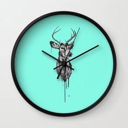 Deer Head III Wall Clock