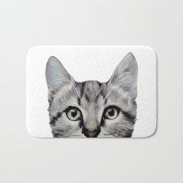 Cat, American Short hair, illustration original painting print Bath Mat
