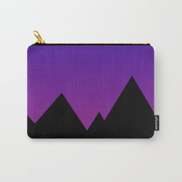Mountains at Sunset (Blue & Magenta) Carry-All Pouch