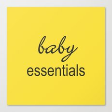 Baby Essentials Pantone 2016-Buttercup Canvas Print