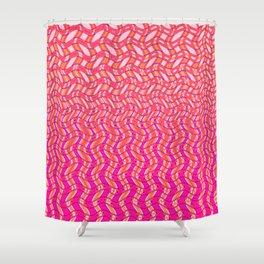 Pink Tangerine Twist Shower Curtain
