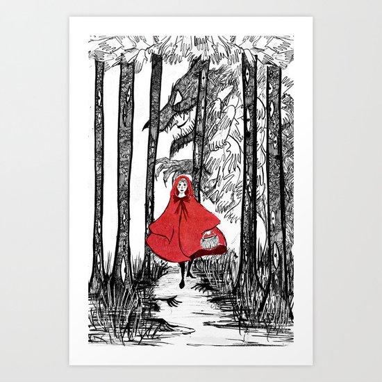 Rotkäppchen Art Print