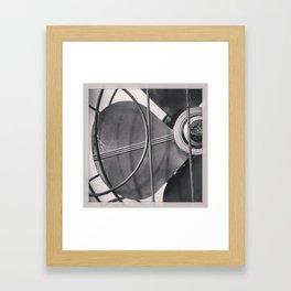 Black And White Vintage Handybreeze Fan Framed Art Print
