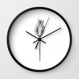 Fleur séchée Wall Clock