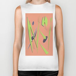 80s Shapes, Colors and Space Biker Tank
