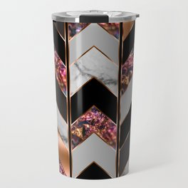 Chevron Peacock Travel Mug