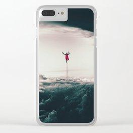 Superman Fan Art Clear iPhone Case