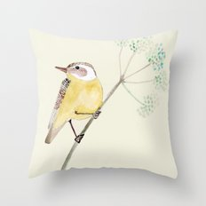 Yellow bird 2 Throw Pillow