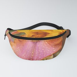 Pink and Orange Lily, Macro Fanny Pack