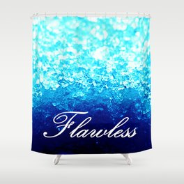 FLAWLeSS Turquoise Crystals Shower Curtain