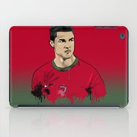 ronaldo iPad Cases featuring Cristiano Ronaldo by J Maldonado