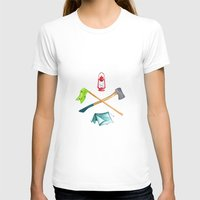 camping T-shirts featuring Camping by Whimsy Milieu