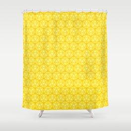 d20 Icosahedron Honeycomb Shower Curtain