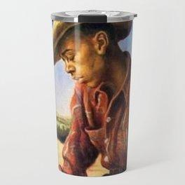 Classical Masterpiece 'The Waterboy' by Thomas Hart Benton Travel Mug
