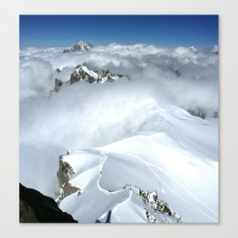 French Alps Mountaineers Canvas Print