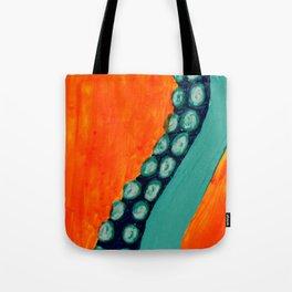 Teal Tentacle Tote Bag
