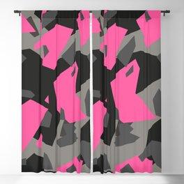 Black\Grey\Pink Geometric Camo Blackout Curtain