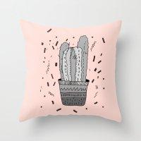 cactus Throw Pillows featuring CACTUS  by Vasare Nar