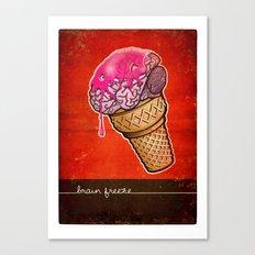 Brain Freeze! Canvas Print