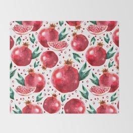 Pomegranates Throw Blanket