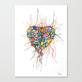 Layered Hearts Stay As One Canvas Print