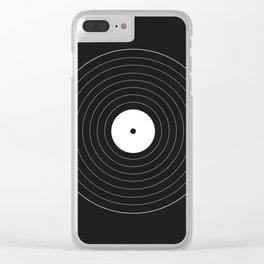 Geometric vinyl Disk Clear iPhone Case