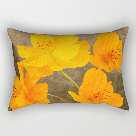 Bright Lights Cosmos Flowers Rectangular Pillow