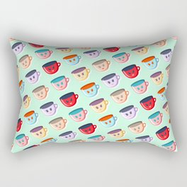 Cute smiling mugs pattern Rectangular Pillow