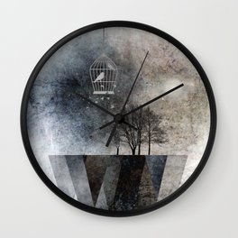 TREES over MAGIC MOUNTAINS I Wall Clock
