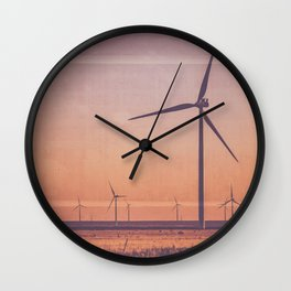 Southwest Windmills Route 66 Wall Clock