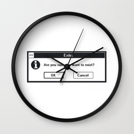 Basic Existentialism I Wall Clock