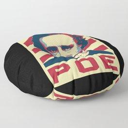 Edgar Allan Poe Retro Propaganda Floor Pillow