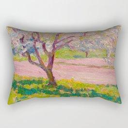 J.E.H. MacDonald, 1873-1932 Apple Blossom, York Mills Rectangular Pillow