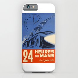 1954 Le Mans poster, Race poster, car poster, iPhone Case