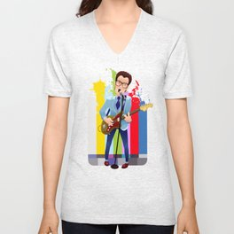 Elvis (Costello) Lives! Unisex V-Neck