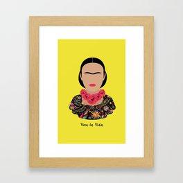 Frida Kahlo floral Framed Art Print