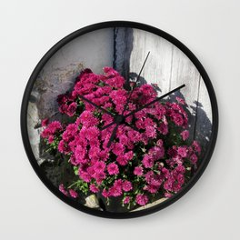 Rustic Bouquet Wall Clock