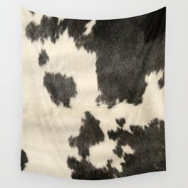 Black & White Cow Hide Wall Tapestry