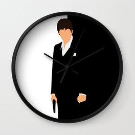 Scarface movie minimalist poster Wall Clock