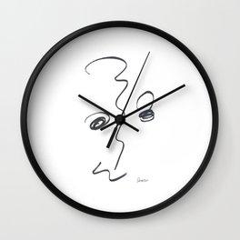Demeter Moji d16 3-3 w Wall Clock