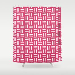 Girly Woven Pattern Pink Shower Curtain